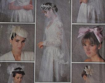 Vintage Bridal Veil Pattern - Simplicity 8509 - One Size - UNCUT