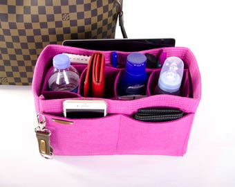 Louis Vuitton Bag insert organizer purse insert with Ipad sleeve + removable compartments + key chain ,Express shipping