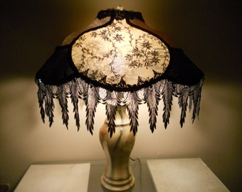 Lace Lamp Shade, Vintage, Elegant, One of Kind Handmade Lampshade Design - FRENCH QUARTER ROMANCE