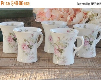 On Sale C T Altwasser Chocolate Cups Set of 5 Coffee Cups Weddings, Mothers Day, Romantic French Farmhouse