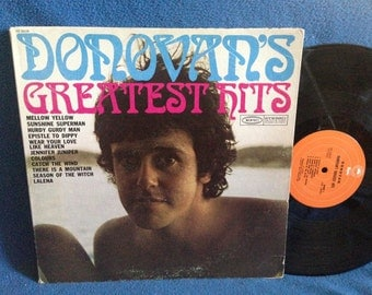 "Vintage, Donovan - ""Greatest Hits"", Vinyl LP, Record Album, Mellow Yellow, Hurdy Gurdy Man, Sunshine Superman, Psych, Folk, Rock"