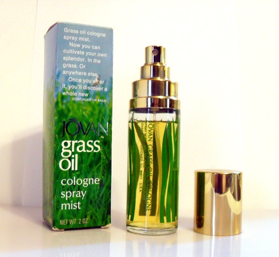 Here is my bottle of Jovan Grass Oil Cologne Mist for Women