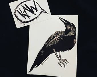 Crow Sticker Set