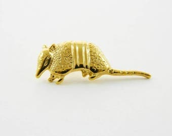 Gold Armadillo Pin