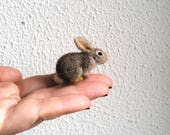 Micro bunny....Felt toy Handmade Doll Soft Sculpture OOAK Needle Felted Wool Animals New... I will make this item for your order