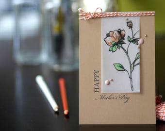 Handmade Happy Mother's Day card