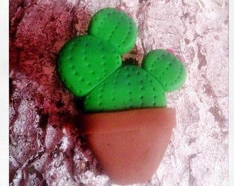 Broche cactus rond