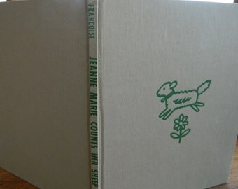 "JEANNE-MARIE Counts Her Sheep, 1951. ""A"", Francoise, Hard Cover, No DJ, Very Good Condition"