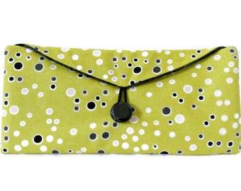 Yellow Bi-Fold Wallet Yellow Wallet - Yellow Billfold - Yellow Polka Dot Wallet - Women's Wallet - Women's Billfold - Women's Bifold Wallet