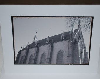 photo card, Loretto Chapel, Santa Fe, New Mexico