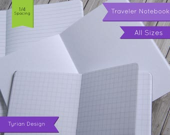 Basic Notebooks (Dot Graph, Lined or Graph) for Midori Traveler's Notebook, All Sizes