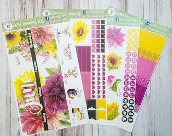 June monthly spread sticker kit to fit the Erin Condren life planner