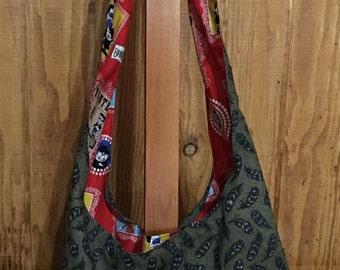 Cross Body Reversible Hobo Bag