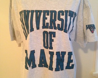 Vintage University of Maine 90s Tshirt
