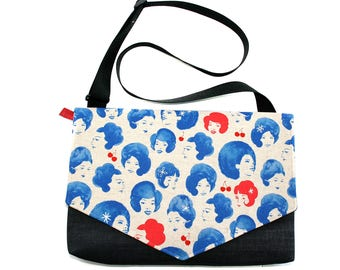 SALE! Blue ladies, laptop bag, Messenger bag, cross body bag