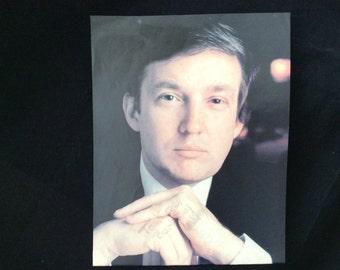 Donald Trump Autographed Photograph, 1988 Rare Collectible