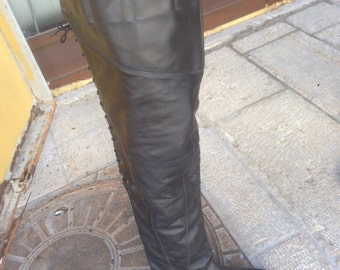leather boots  made in CHile   size 37 1/2  circa 1993's for a tall woman new never been ware
