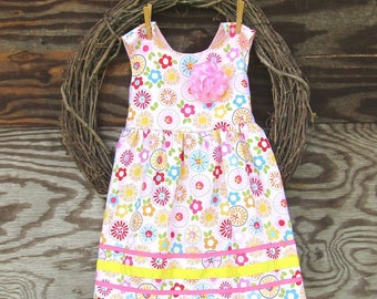 Girls Dress, Girls Beach Dress, Girls Summer Dress, Girls Sundress,