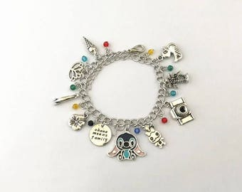 Lilo and Stitch inspired charm bracelet