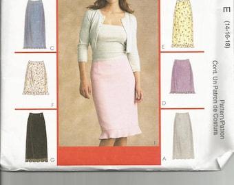 McCalls 2634 uncut size 14 - 18 womans skirt