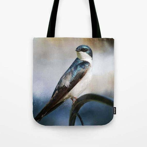 Tree Swallow Photo Tote Bag, Photo Tote, Tote Bag, Photography, Travel Tote, Bird Tote Bag