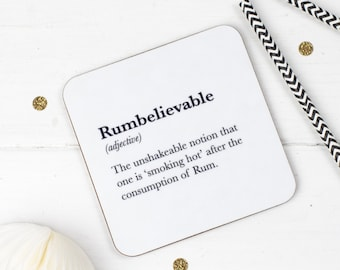 Funny Coaster - Rum Coaster  - Stocking Filler - Gift For Friend