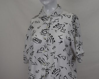 1990s Patterned Vintage Shirt