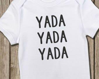 Seinfeld Onesie, Yada Yada Yada, Seinfeld Baby Shirt, Funny Onesie, Nerd Onesie, Seinfeld Bodysuit, Baby Gift, Baby Shower Gift, Take Home