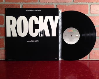 ROCKY Soundtrack Movie Vinyl Record Album LP 1976 Gonna Fly Now Bill Conti Music Sylvester Stallone Boxing OST Vintage