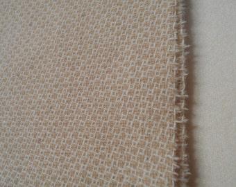 Wool fabric - 'Tan Hexie' - 12 X 14 inches