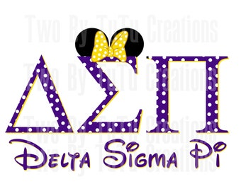 delta sigma pi fraternity minnie mouse printable image for diy iron on transfer disney college brother dsp