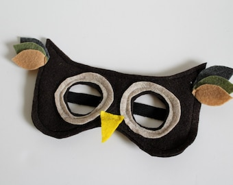 Felt Owl Mask for Kids