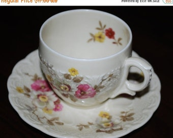 Hohenberg Bavaria Flora Apple Blosson Vintage tea cup and saucer