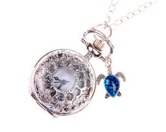 Necklace Pocket watch branche
