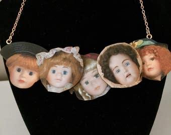 Creepy Dolls Head Necklace