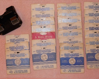 Vintage View-Master with Reels, Sawyer's View-Master, View Master, Bambi, Hopalong Cassidy