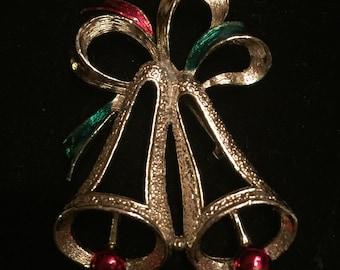 Vintage Christmas Bells Pin