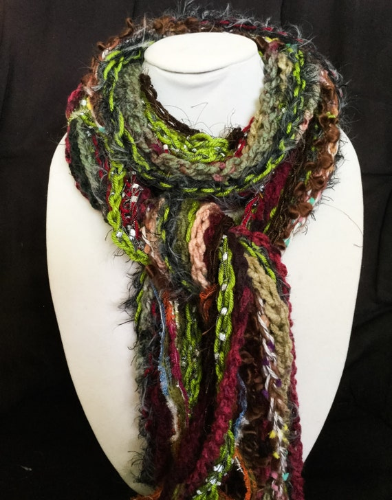 handmade scarves fringe scarves crochet scarf fashion by