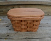 Recipe box 4 x 6 card Oak Wood Basket