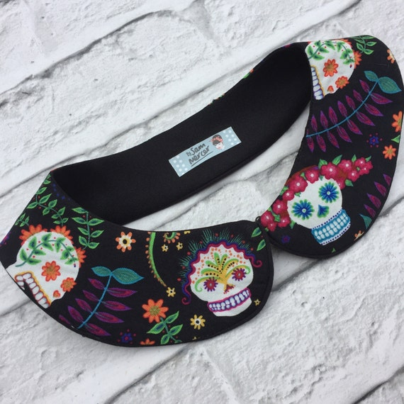 Sugar Skull Peter Pan Collar Rockabilly Pinup style