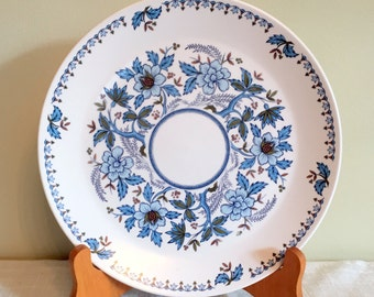 "Noritake Progression / BLUE MOON Plate / Noritake 10"" Plate / Blue & White Floral / Blue Moon Dinner / Noritake 9022 / Made in Japan/VG Cond"