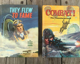 Books 1963 1964 Whitman Publishing They Flew to Fame Combat! The Counterattack Children's Stories Aviation Army Story World War II Early Air