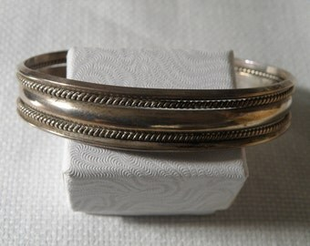 Native American Sterling Silver Cuff - 8 inch
