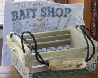 Clamming hod, crate, cottage garden basket