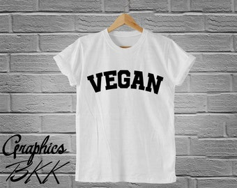 VEGAN T-Shirt VEGAN Unisex T-Shirt Vegan Shirt unisex tee funny slogan party Vegetarian (S-XL) Free Shipping