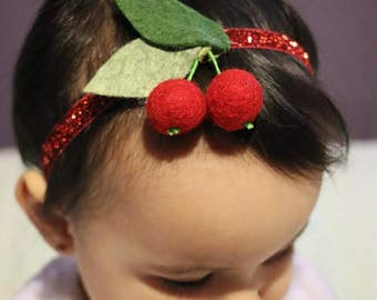 Cherries headband.