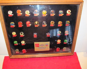 Vintage Coca Cola NFL Pins From Teams of 1984 For Super Bowl XIX