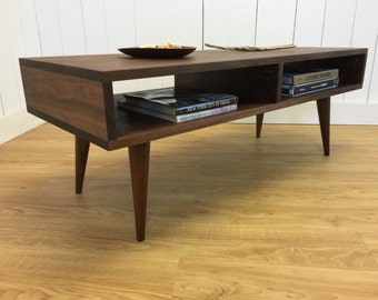 Boxer mid century modern coffee table with storage featuring