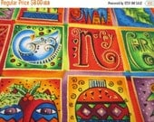 Spring Sale Quilting Weight Cotton Fabric Enchantment Squares designed by Laurel Burch for Clothworks 1 yard
