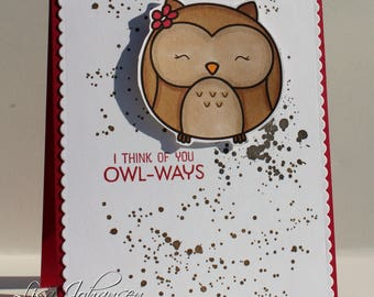 I Think Of You Owl-Ways